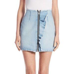 MSGM Denim Mini Skirt Size Size 6